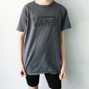Vintage Vans Logo Graphic Tee Shirt Skate Gray S